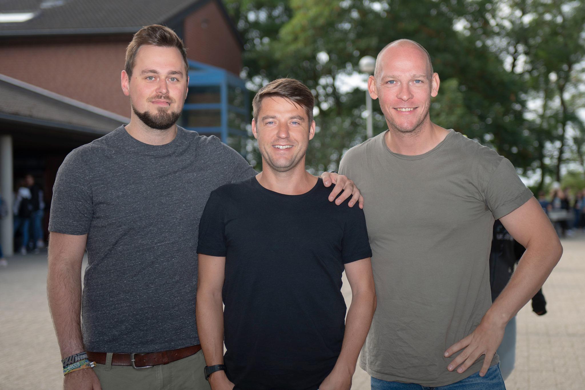 Christian Tetz, Arian Berkigt und Ulf Albeck