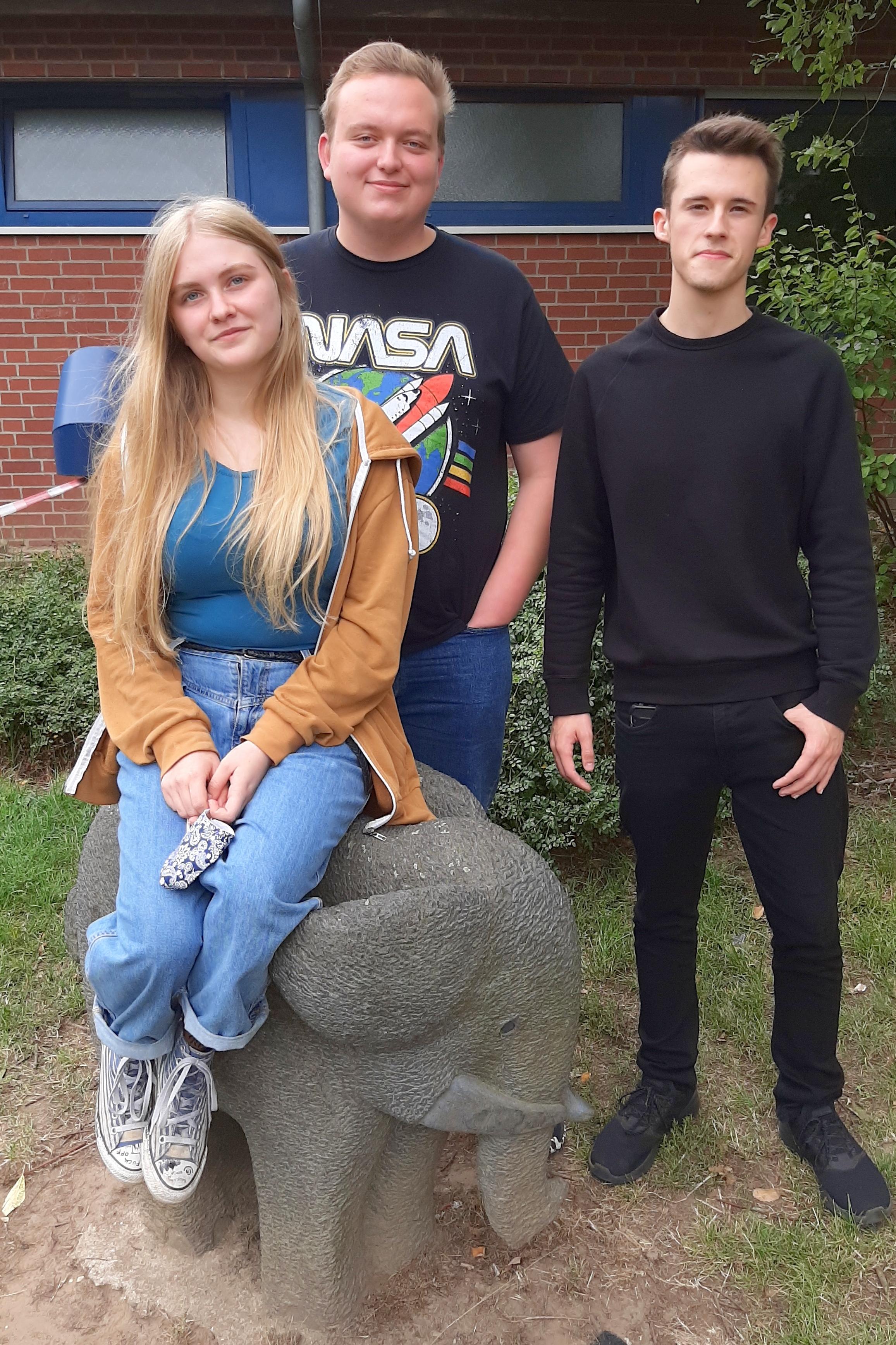 Luna Ongaro, Nick Hess und Felix Niemann