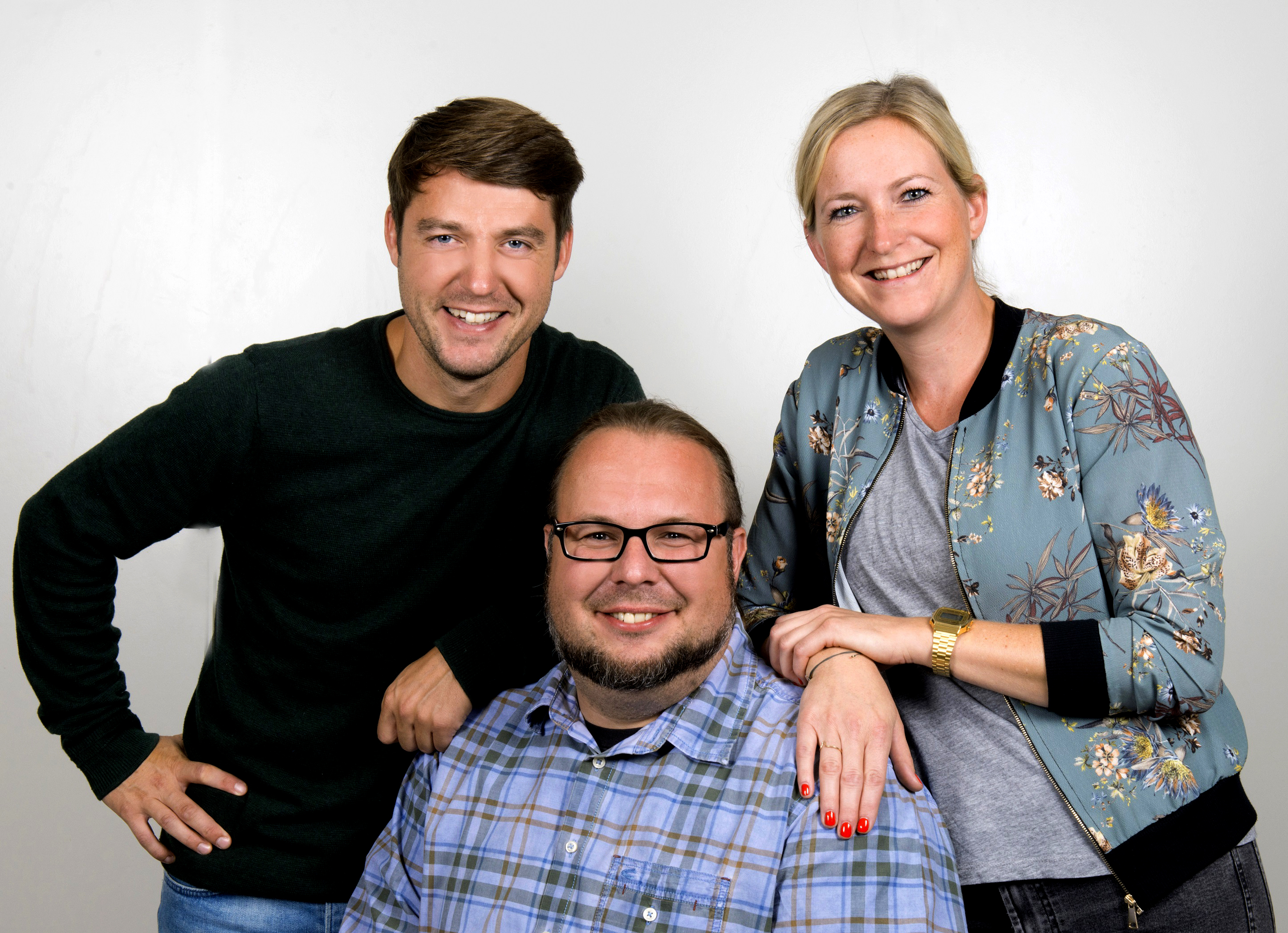 Arian Berkigt, Benjamin Blum und Eva Küppers