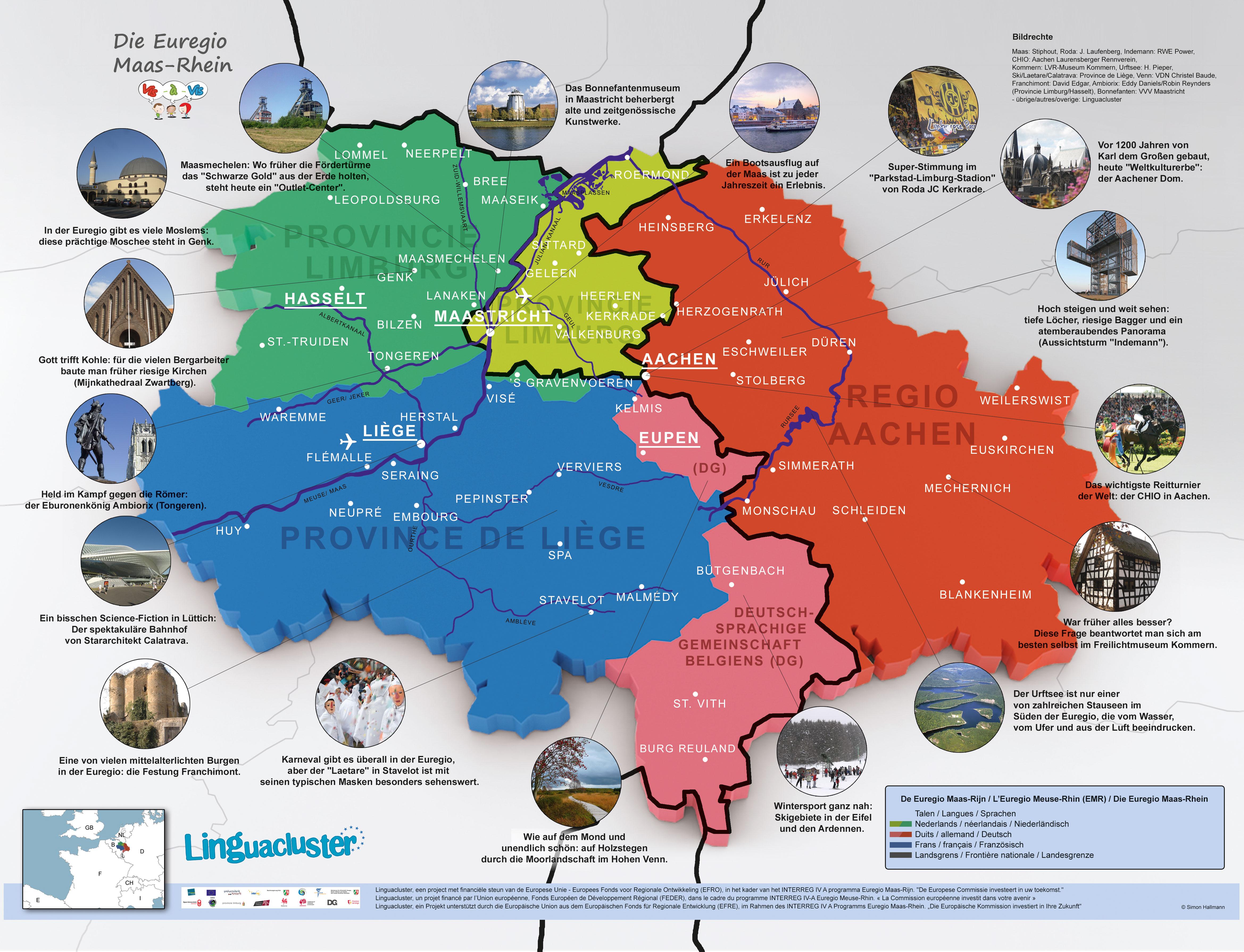 Karte der Euregio
